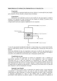 Princípios da Evaporação - Apostilas - Engenharia Química