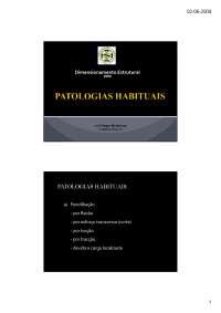Patologias Habituais - Apostilas - Dimensionamento Estrutural