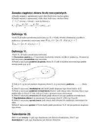 Zasada ciągłości zbioru liczb rzeczywistych - Notatki - Informatyk