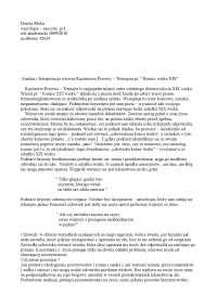 Analiza i interpretacja wiersza Tetmajera - Notatki - Literatura