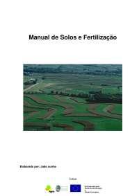 Solo e Fertilizantes - Apostilas - Engenharia Agronômica