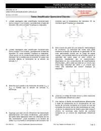 Amplificador Operacional Discreto - Apuntes - Diseño de Sistemas