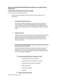 Tema 4 LA ACTIVIDAD ADMINISTRATIVA DE LA INSPECCION. LA INSPECCION DE TRABAJO Y SS