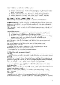 Historia administracji - Notatki - Prawo
