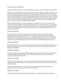 Nacimiento de los idiomas - Apuntes - Literatura