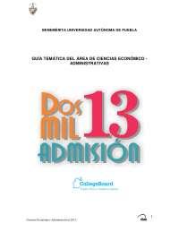 Guía BUAP 2013 ECONOMICO ADMINISTRATIVAS