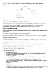 Finanse publiczne a finanse prywatne - Notatki - Finanse i bankowość
