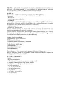 Finanse publiczne - Notatki - Finanse i bankowość