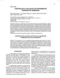 Construção de psicrometro aspirado de termopar, Notas de estudo de Engenharia Informática