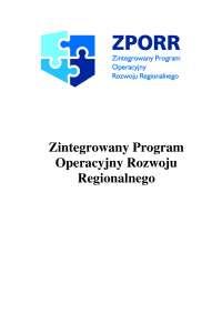 Zintegrowany Program Operacyjny Rozwoju Regionalnego - Notatki - Zarządzanie