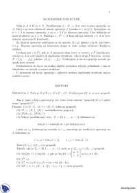 Algebarske strukture-Vezbe-Algebarske strukture-Matematika