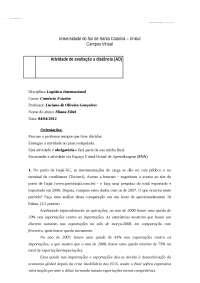 Logística Internacional - Apostilas - Comércio Exterior