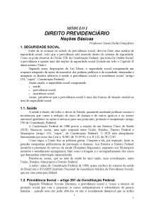 Noções Básicas de Direito Previdenciário - Apostilas - Direito