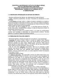 Introdução ao estudo do direito - Apostilas - Direito