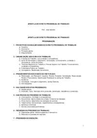 Direito Processual do Trabalho - Apostilas - Direito, Notas de estudo de Direito Administrativo