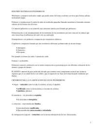 Resumen materiales poliméricos - Apuntes - Arquitectura