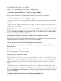 La captación de la actividad empresarial - Apuntes - Management