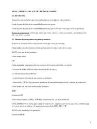 Sistemas de acumulación de costes - Apuntes - Management