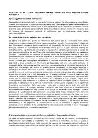 Riassunti Logica e metodologia giuridica prof villa capitolo 5 di 6 una teoria pragmaticamente orientata