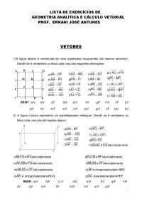 Geometria Analítica e Cálculo Vetorial - Apostilas - Matemática