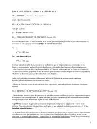 Análisis de la estructura financiera - Apuntes - Management