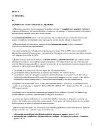 La memoria - Apuntes - Management