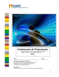 Apostila Fundamentos de Programação, Algoritmos & Linguagem C++ , Notas de estudo de Engenharia Informática