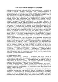 Rola opiekunek w środowisku domowym - Notatki - Medycyna