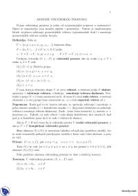 AKSIOME VEKTORSKOG PROSTORA-Beleska-Linearna algebra i polinomi-Matematika