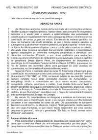 Prova de Conhecimentos Específicos - Musica - Tipo I – UFSJ - 2007