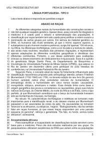 Prova de Conhecimentos Específicos - Musica - Tipo II – UFSJ - 2007