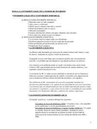 La inversión colectiva. Fondos de inversión - Apuntes - Management