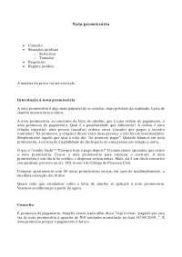 Nota promissória - Apostilas - Direito Cambiário