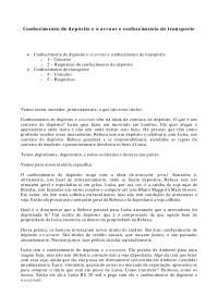 Conhecimento de depósito e warrant e conhecimento de transporte - Apostilas - Direito Cambiário