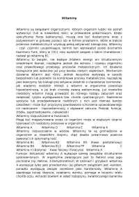 Witaminy - Notatki - Żywienie