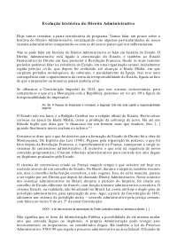 Evolução histórica do Direito Administrativo - Apostilas - Direito Administrativo