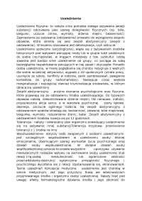 Uzależnienia - Notatki - Resocjalizacja