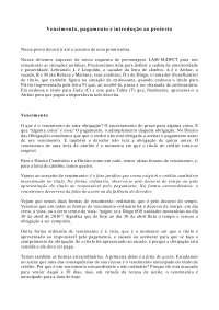 Vencimento, pagamento e introdução ao protesto - Apostilas - Direito Cambiário