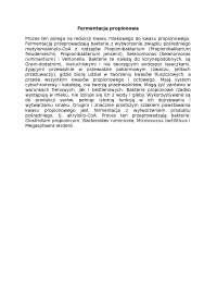 Fermentacja propionowa - Notatki - Biochemia