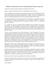 Regime da separação de bens e Participação final nos aquestos - Apostilas - Direito de Família