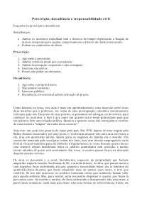 Prescrição, decadência e responsabilidade civil - Apostilas - Direito Civil