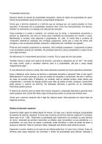 Propriedade temporária - Apostilas - Direito Civil