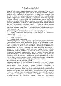 Rośliny lecznicze Algierii - Notatki - Biologia