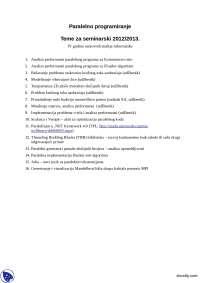 Teme-Seminarski rad-Paralelno programiranje-Informatika