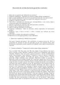 Exercício de revisão da teoria geral dos contratos - Apostilas - Direito Civil