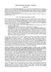 SUNTI LEZIONE SU COMUNICAZIONE E POTERE DI CASTELLS