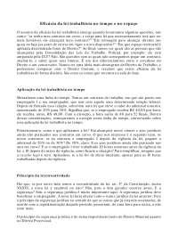 Eficácia da lei trabalhista no tempo e no espaço - Apostilas - Direito do Trabalho