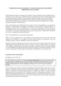 Casamento por procuração e casamento perante autoridade diplomática - Apostilas - Direito de Família