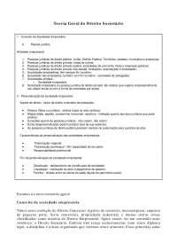 Teoria Geral do Direito Societário - Apostilas - Direito Empresarial