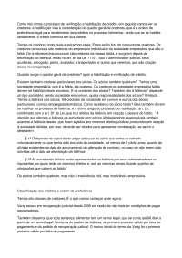 Quadro Geral de Credores - Apostilas - Direito Empresarial